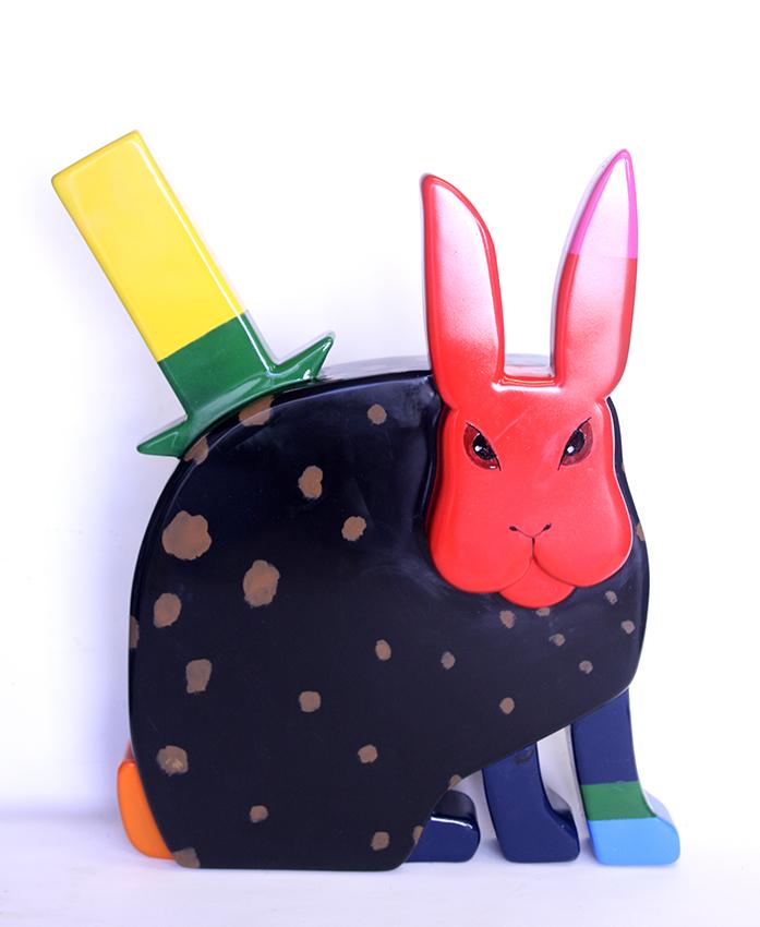 Black rabbit H68cm kopie