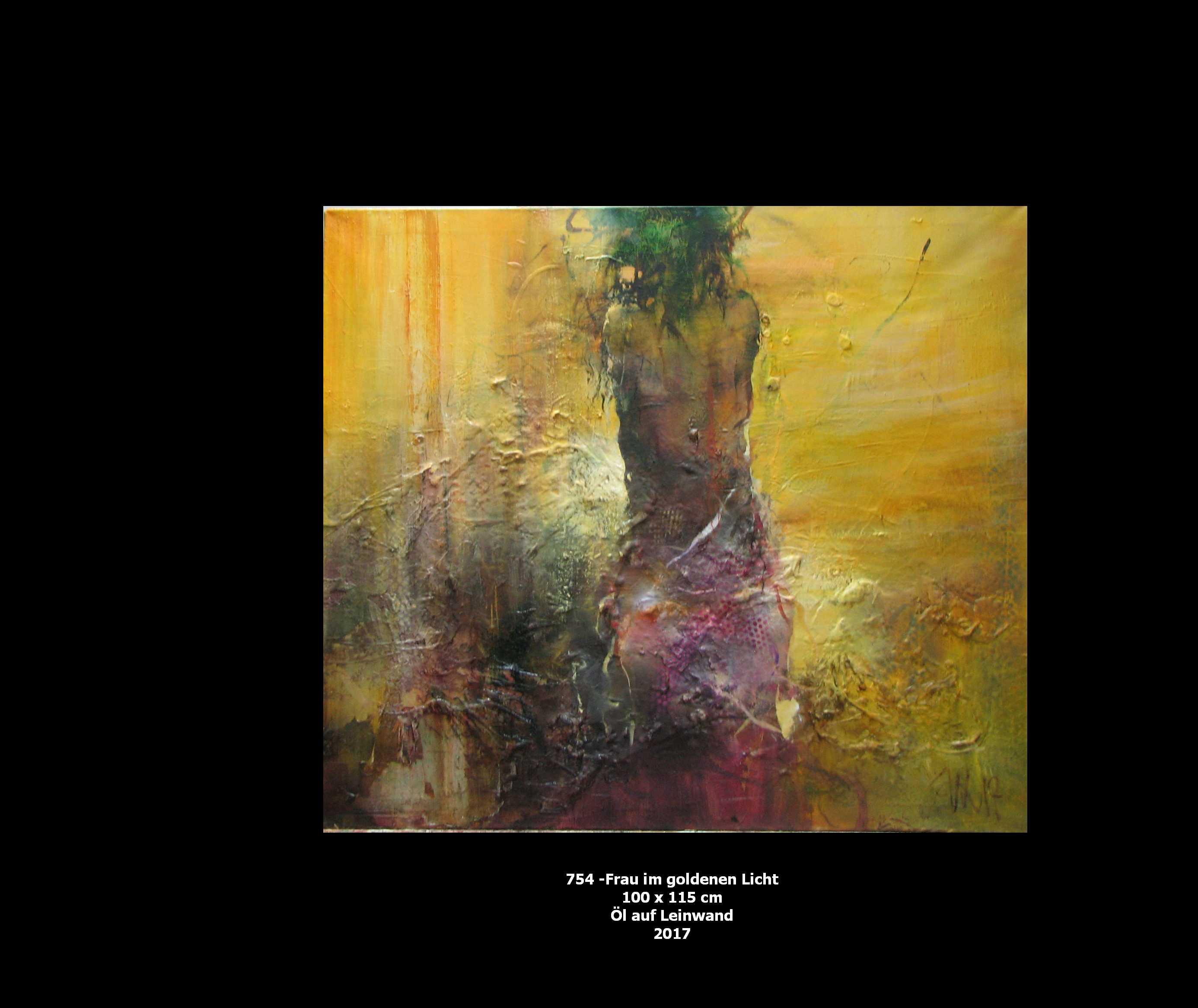 754 - Frau im goldenen Licht